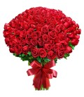 Bouquet de 200 roses rouges