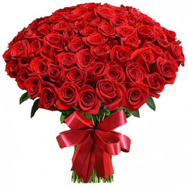 Bouquet de 101 roses rouges