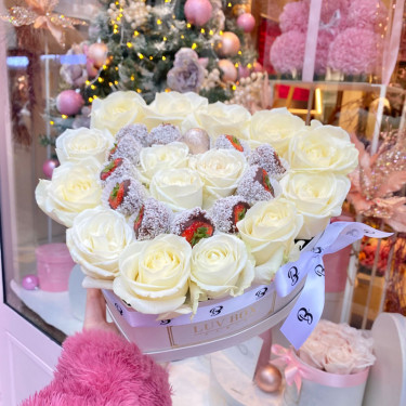LuvBerry - roses blanches